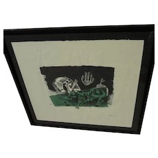 MAQBOOL FIDA HUSAIN (1915-2011) pencil signed lithograph by the world famous Indian artist