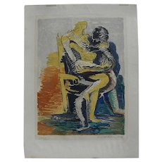 OSSIP ZADKINE (1890-1967) pencil signed limited edition lithograph by the famous Russian-born sculptor