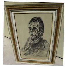 OSKAR KOKOSCHKA (1886-1980) pencil signed 1918 print by the Austrian expressionist master artist