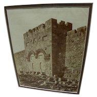 GIACOMO BROGI (1822-1881) circa 1868 albumen photo of Jerusalem by noted Italian early photographer