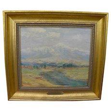 "GEORGE KENNEDY BRANDRIFF (1890-1936) California plein air painting ""San Bernardino--Mt. Baldy"""