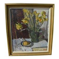 Impressionist 1955 signed still life painting