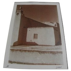 Truchas New Mexico signed artistic photographic image of historic Las Trampas church