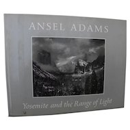 "ANSEL ADAMS (1902-1984) signed book ""Yosemite and the Range of Light"" 1979"