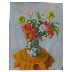 HELEN CAUDLE WINSLOW (1916-2008) American impressionist still life painting