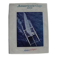 Dennis Conner 1988 America's Cup official book signed and dedicated