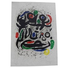 "JOAN MIRO (1893-1983) Spanish modern art original pencil signed numbered 1969 lithograph print ""Pour Galerie Gerard Cramer"""