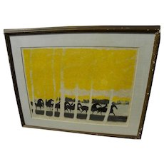 ANDRE BRASILIER (1929-) contemporary limited edition signed lithograph by popular French artist