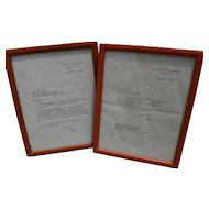 Vice President Spiro Agnew **PAIR** historical 1972/1973 hand signed typed letters