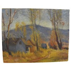 LeConte STEWART (1891-1990) Utah art impressionist landscape oil painting
