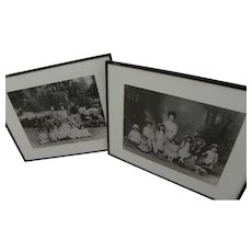 Pair of photographs of early 20th century Chinese families