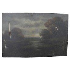 T. BAILEY landscape oil painting restorer special