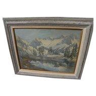 HELEN BALFOUR (1847-1925) fine early California watercolor Sierra landscape painting