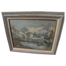 HELEN BALFOUR (1847-1925) fine early California watercolor Sierra landscape painting