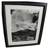 """ROBERT WERLING (1946-) black and white original photograph """"Thunderstorm"""" by noted American photographer"""