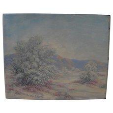 California plein air art impressionist desert painting by listed artist GRACE T. HOWELL (1876-1966)