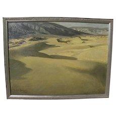 California desert vintage painting 1953 signed Lillian Reynolds