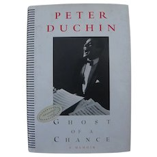 "Peter Duchin society bandleader signed autographed copy of memoir book ""Ghost of a Chance"""