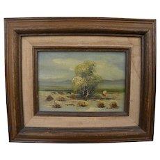 KENNETH WALFORD (20th century California) plein air desert landscape painting