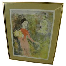 VU CAO DAM (1908-2000) Vietnamese art pencil signed limited edition lithograph