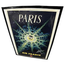 PAUL BAUDOUIN (1921-1971) vintage classic 1950's PARIS (Air France) travel poster