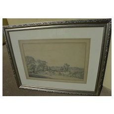 Style of PAUL SANDBY (1731-1809) antique English watercolor dated 1793