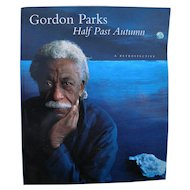 "GORDON PARKS (1912-2006) famous African-American photographer **signed** 1997 book ""Half Past Autumn: A Retrospective"""