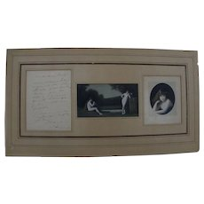 JEAN-JACQUES HENNER (1829-1905) handwritten signed letter by important French artist