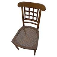 JOSEF HOFFMANN (1870-1956) Wiener Werkstatte early 20th century chair with labels of Jakob/Josef Kohn