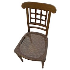 JOSEF HOFFMANN (1870-1956) Wiener Werkstatte early 20th century chair with labels of Jakob/Josef Kohn