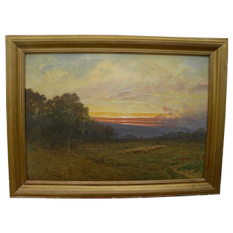 SYDNEY J. YARD (1855-1909) early California art plein air watercolor landscape painting unusually fine example