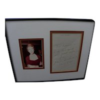 Julie Andrews original signed handwritten personal note on Mary Poppins stationery
