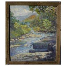JOHN FREDERICK (FRED) NANKIVEL (1876-1950) large American impressionist landscape painting