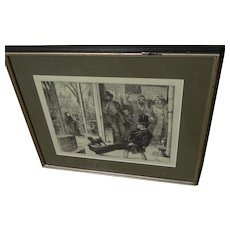 WILLIAM JOHN HENNESSEY (1839-1917) wood engraving print temperance subject 1874