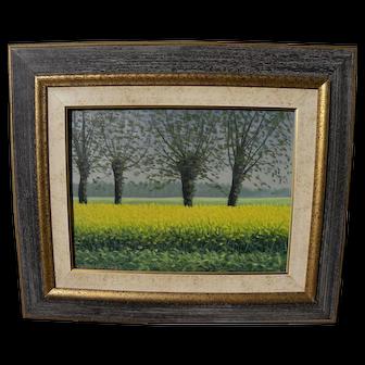 MARIO CORRIERI (1949-) Italian contemporary painting spring flower fields