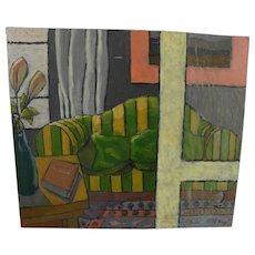 FRANCESCO PRAYER (1924-) Italian contemporary art modernist interior painting
