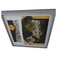 DORIS WHITE (1924-1995) Mid-Century modern abstract drawing by listed artist