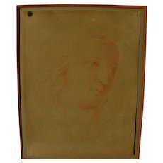 """Old Master red chalk drawing after RAPHAEL (1483-1520) drawing """"Head of a Muse"""""""