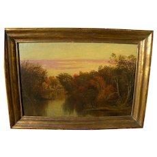 American 19th century Hudson River School painting freshly cleaned