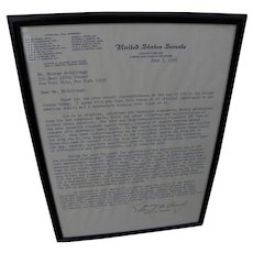 TED KENNEDY signed 1966 typed letter regarding LSD use in America
