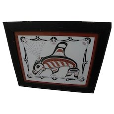 Northwest Coast Art signed numbered serigraph print by Tsimshian artist HEBER REECE (1955-)