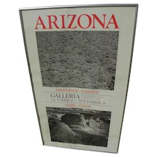 Original 1977 Arizona poster for Frederick Sommer and Ansel Adams photography exhibition