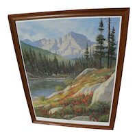 MARK OGLE (1952-) limited edition hand signed print of Glacier Park Montana landscape