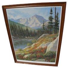 MARK OGLE (1952-) limited edition hand signed print of Glacier Park Montana landscape