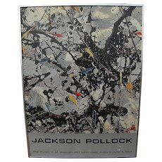 JACKSON POLLOCK (1912-1956) original 1967 Museum of Modern Art poster as-is condition