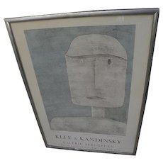 KLEE and KANDINSKY original vintage 1960's Galerie Berggruen exhibition poster