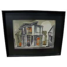 JOHNNY DONNELS (1924-2009) watercolor painting by noted New Orleans French Quarter artist