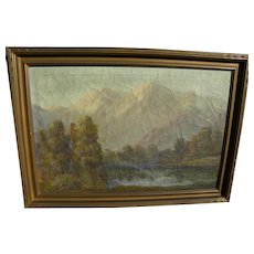 CHARLES DAMROW (1916-1989) impressionist western American landscape by noted western artist