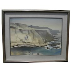 MILFORD ZORNES (1908-2008) fine 1962 painting by renowned California Style watercolor master artist