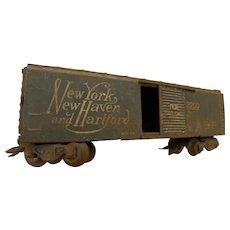 Vintage toy railroad car New York New Haven & Hartford